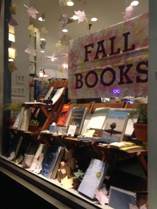 fall books window mcnally jackson nyc