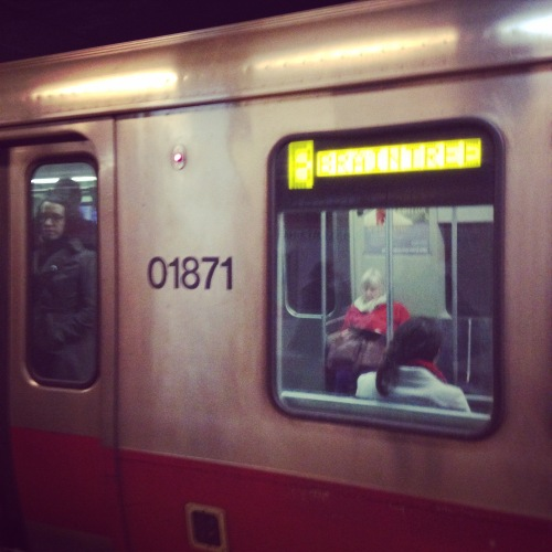 red line subway car boston mbta