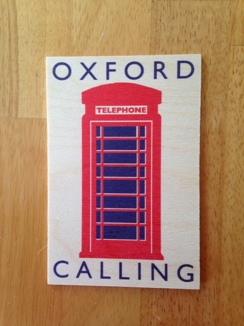 oxford calling postcard phone box