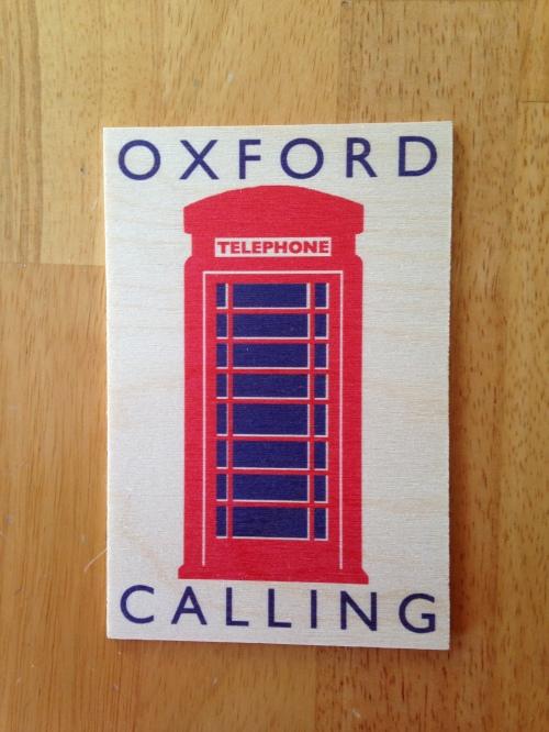 oxford calling postcard phone box