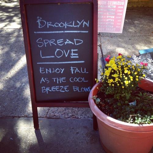 brooklyn spread love sign
