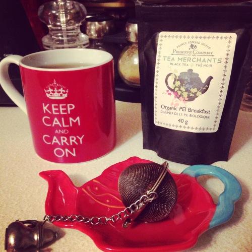 tea keep calm mug pei