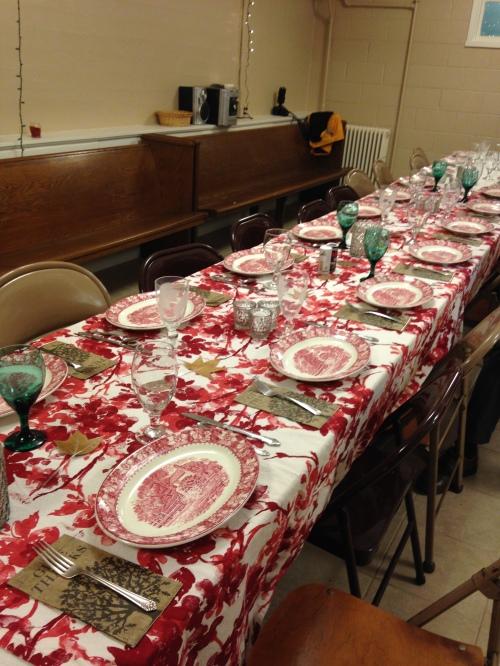 thanksgiving table turkeypalooza