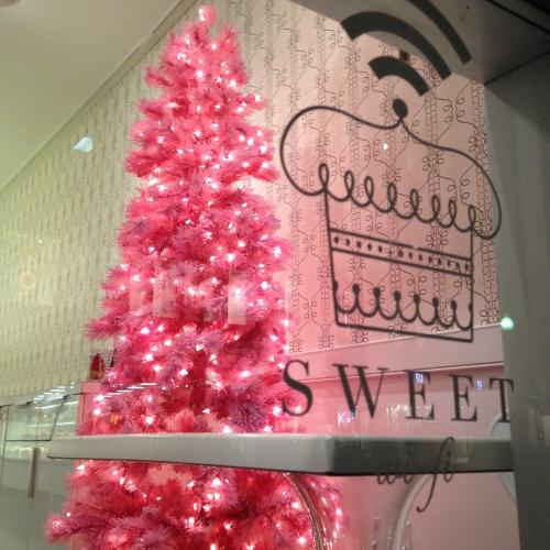pink christmas tree sweet cambridge