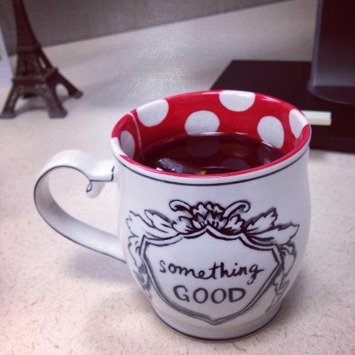 something good polka dot mug