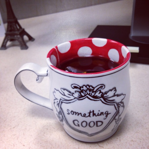something good polka dot mug
