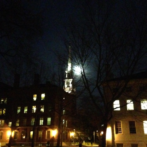 memorial church moon harvard yard cambridge