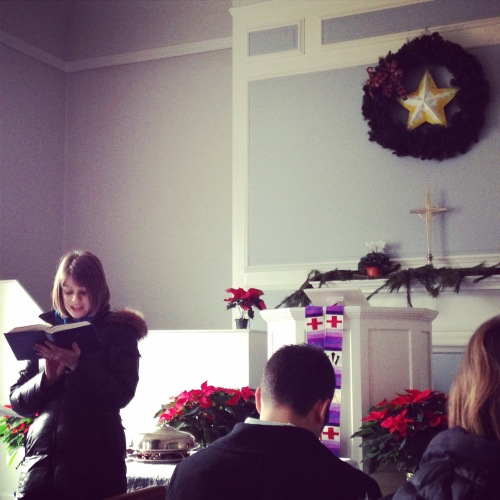 advent scripture wreath church