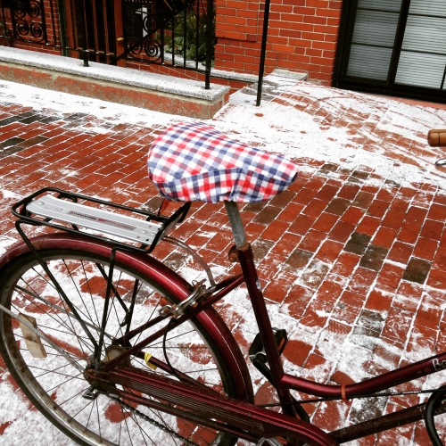 bike seat cover plaid snow