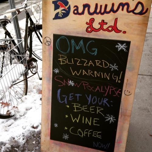 darwins blizzard sign