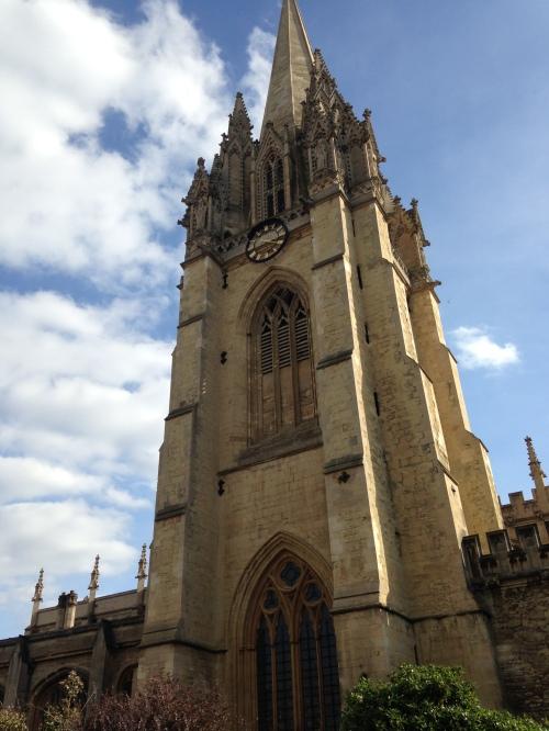 university church tower oxford england