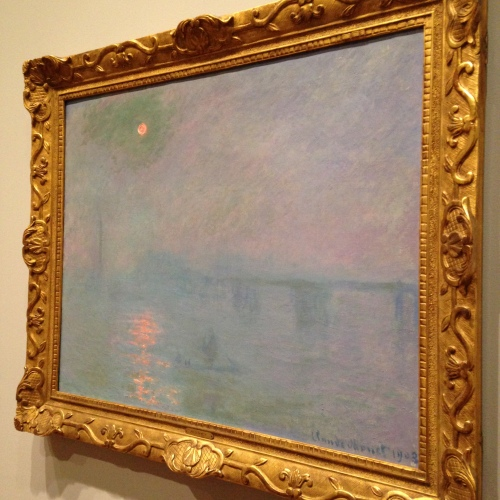 monet charing cross bridge fog london painting