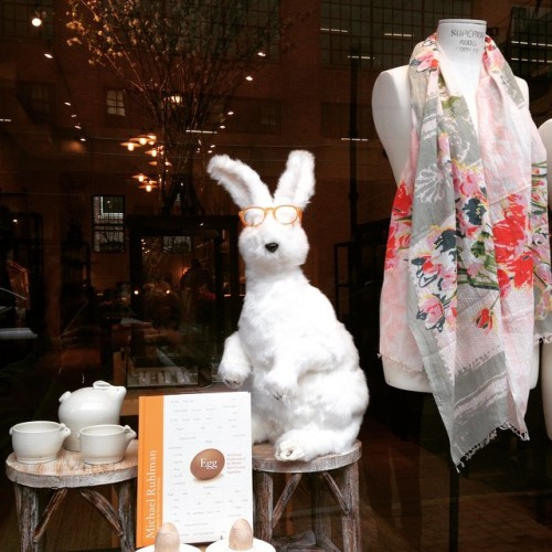 bunny glasses window display