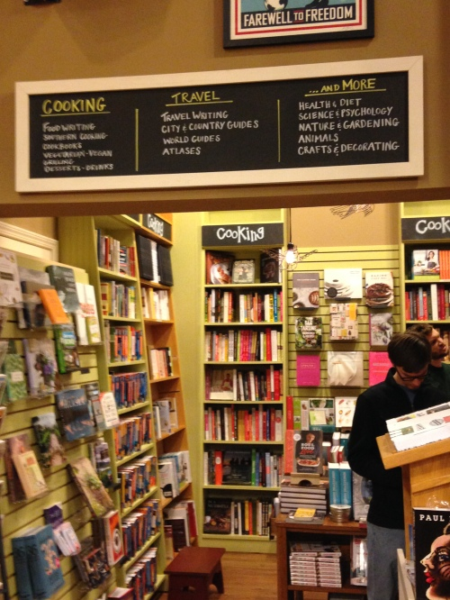 parnassus cooking travel section bookstore