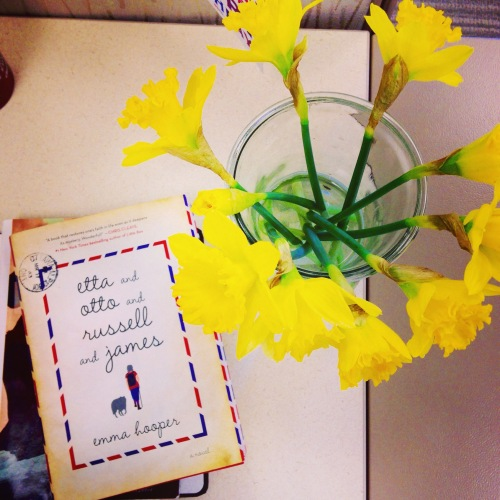 daffodils book desk