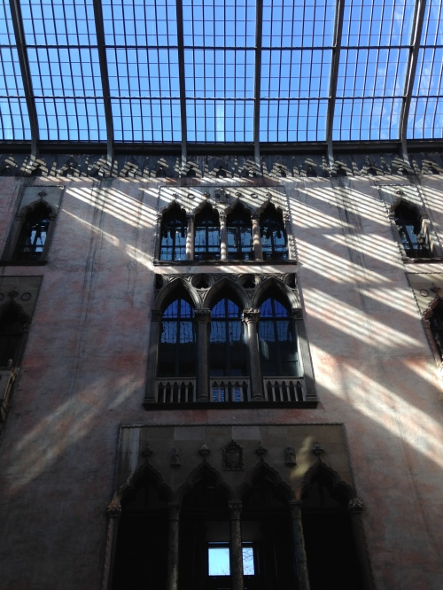 gardner museum courtyard blue sky