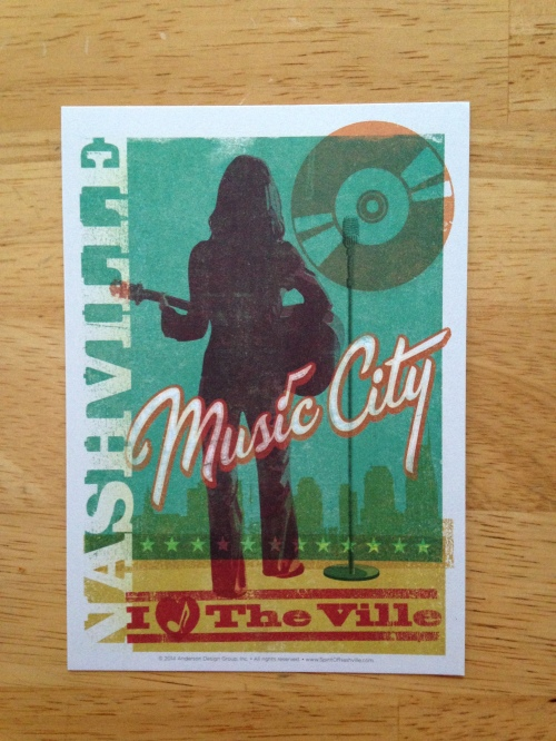 nashville guitar postcard