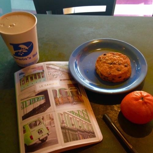 darwins chai journal scone orange cafe