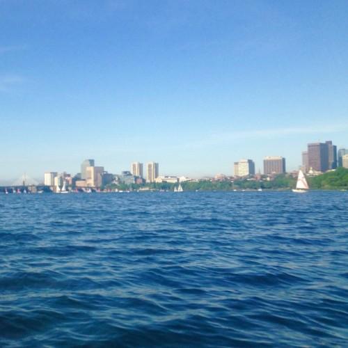 charles river view boston sailboat