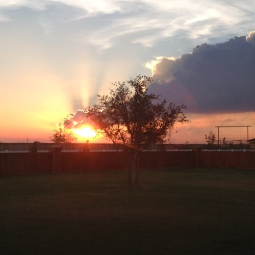 sunset sky west texas