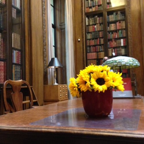 widener room harvard library flowers