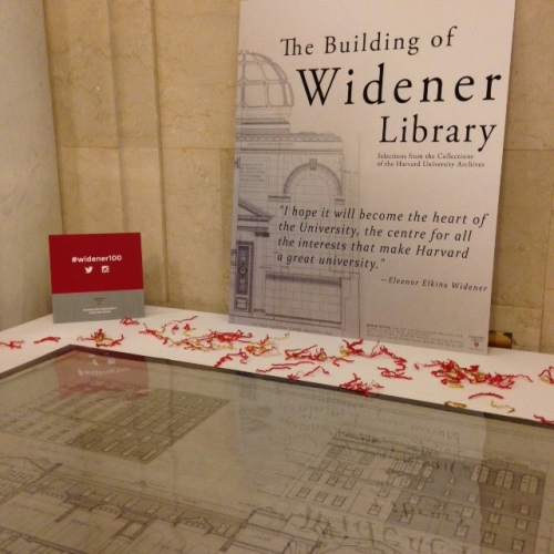 widener library plans harvard