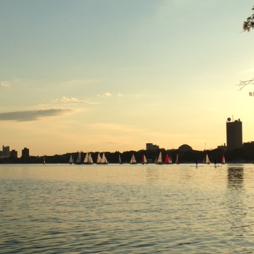 charles river light boston summer