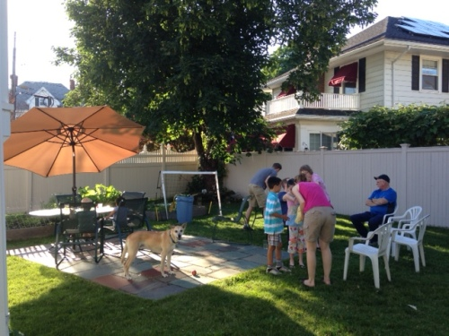sunday night backyard