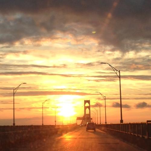 pell bridge sunset