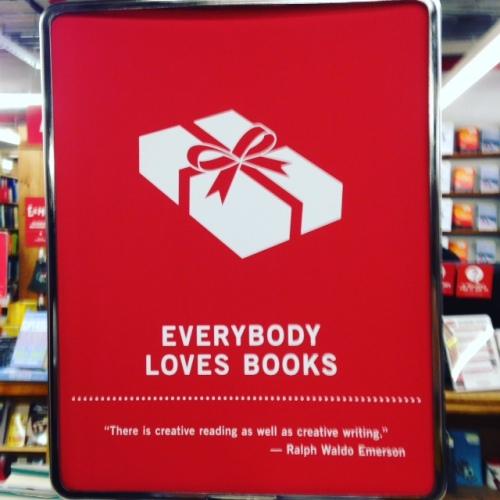 everybody loves books sign