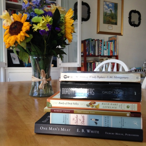 fall books flowers mysteries