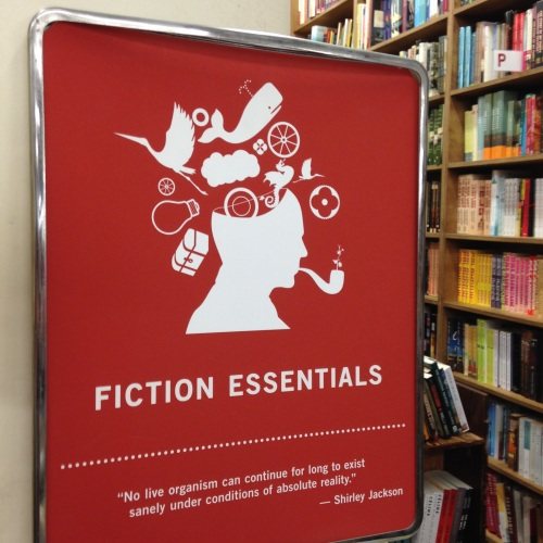 fiction essentials sign strand bookstore