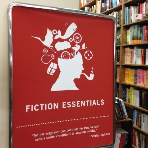 fiction essentials sign strand bookstore