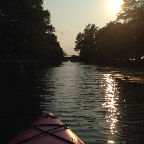 kayak river light water
