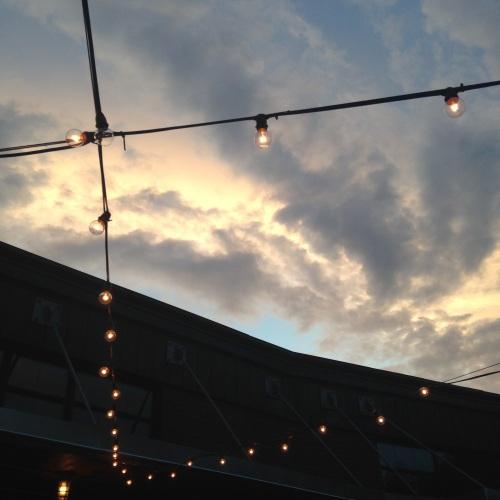 steel and rye lights sunset