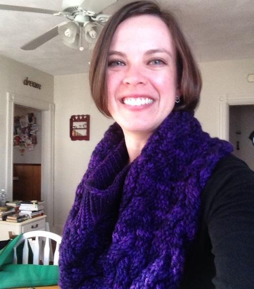 katie shaw hill cowl purple
