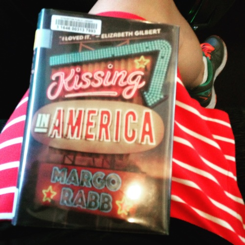 kissing in america book striped skirt