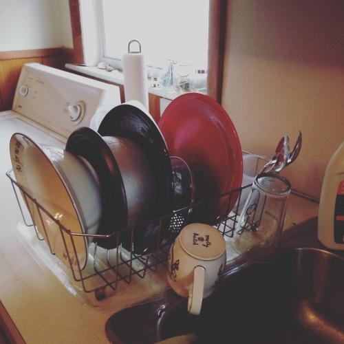 dish rack kitchen