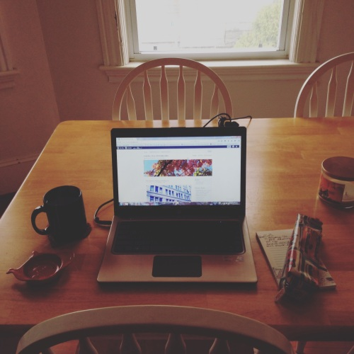 laptop kitchen table