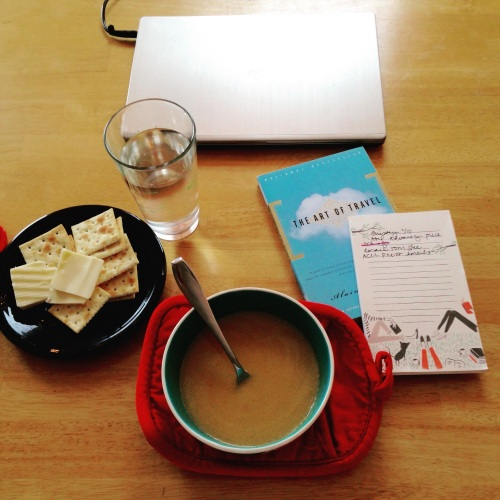 soup crackers notepad book