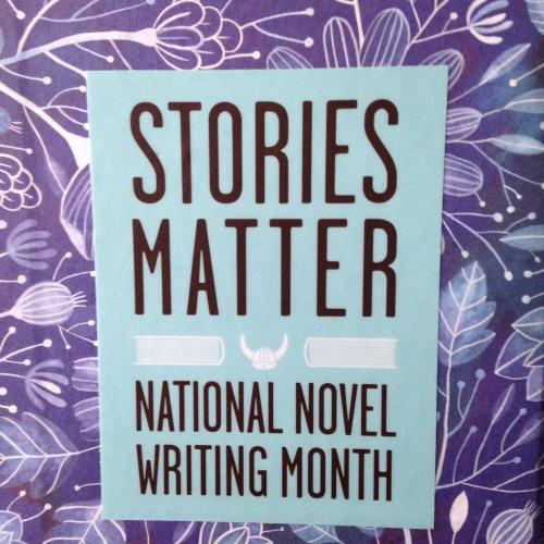 stories matter nanowrimo sticker