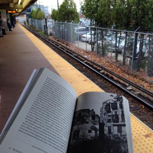 train platform book