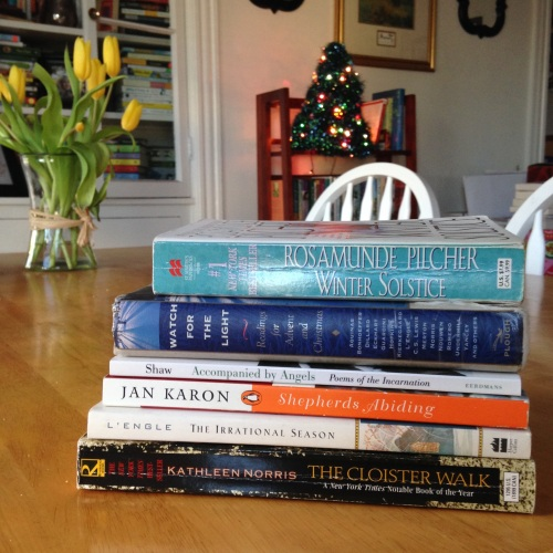 advent book stack
