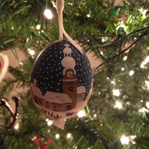 egg christmas ornament