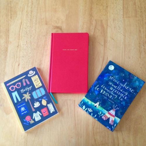 journals bon voyage red stars
