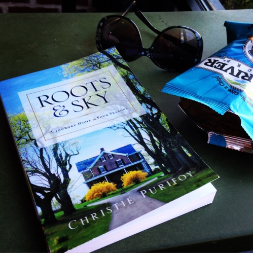 roots and sky book table sunglasses