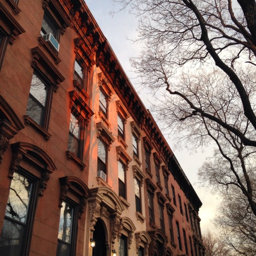 brooklyn brownstones light