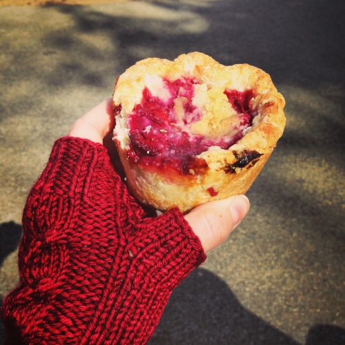 cherry pie muffin