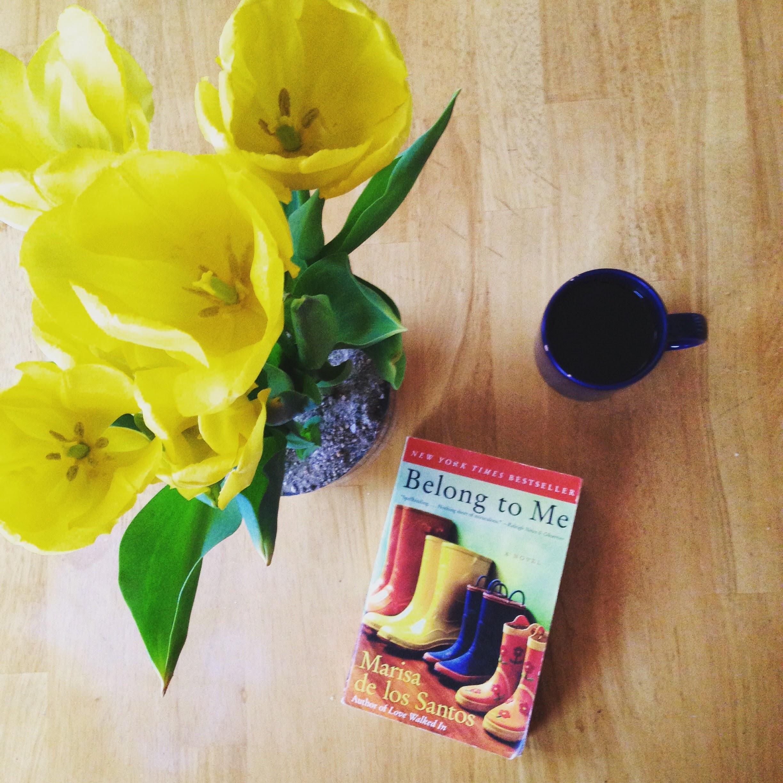 belong to me book tulips mug