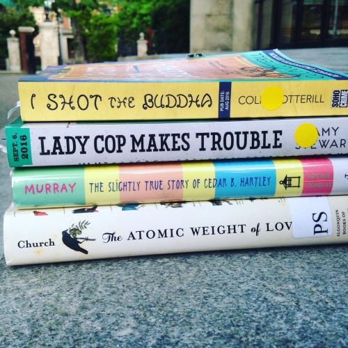 buddha book stack